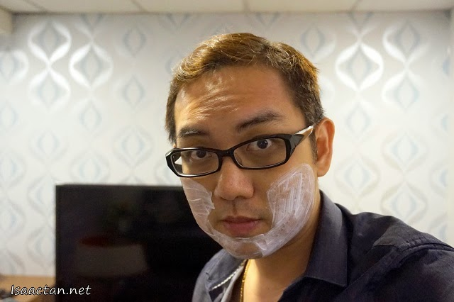 Hey, that's me with the numbing cream on my face