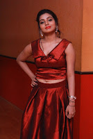 Tamil Actress Anisha Xavier Pos in Red Dress at Pichuva Kaththi Tamil Movie Audio Launch  0013.JPG