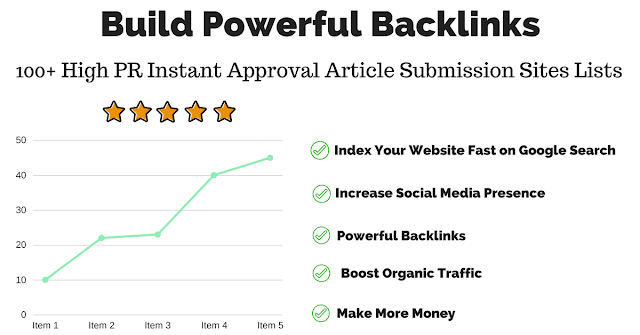 Free Instant Approval Article Submission Sites Lists