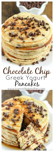Chocolate Chip Greek Yogurt Pancakes