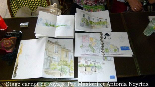 stage atelier workshop carnet carnets voyage paris antonia neyrins pat masioni travelsketch travelsketchbook sketchbook croquis aquarelle peinture dessin partir seul