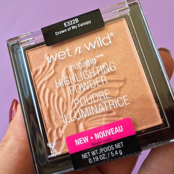 wet n wild megaglo highlighting powder aydınlatıcı e322b crown of my canopy incelemesi1