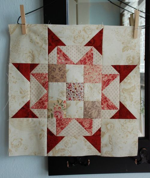 Star Quilt Block Free Tutorial by Sarah Murray of Anyone Can Quilt