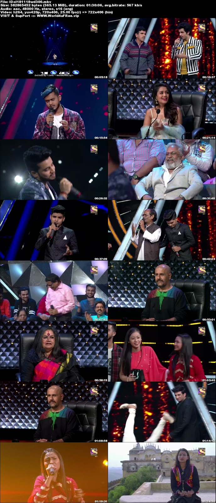 Indian Idol Season 10 18 November 2018 WEBRip 480p 300Mb  world4ufree.vip tv show Indian Idol Season 10 hindi tv show Indian Idol Season 10  Sony Set  tv show compressed small size free download or watch online at world4ufree.vip