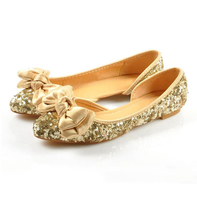 Gold Flats For Wedding