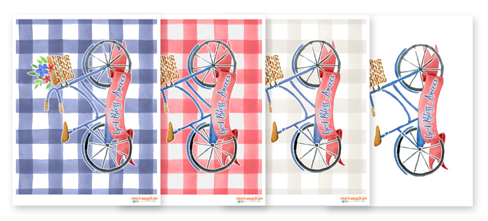 Fun Patriotic Bicycle Printables