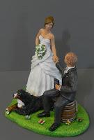 cake topper personalizzato con cane statuine realistiche milano orme magiche