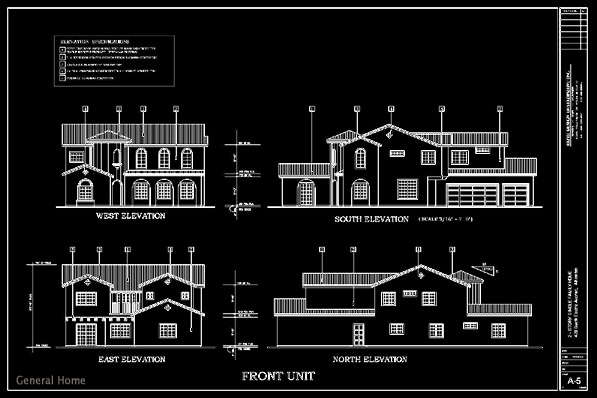 how to draw a building elevation in autocad at