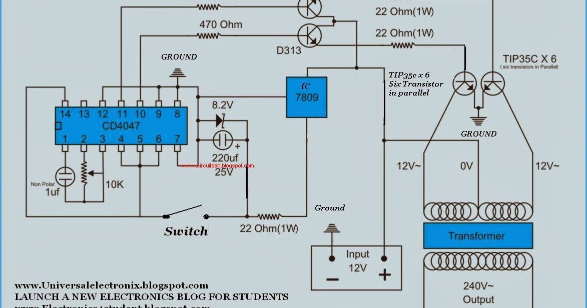 Simple 500 Watt Inverter Circuit Diagram | Super Circuit