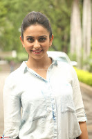 Rakul Preet Singh in Jeans and White Shirt At Jaya Janaki Nayaka le Logo Launch ~  Exclusive 006.JPG