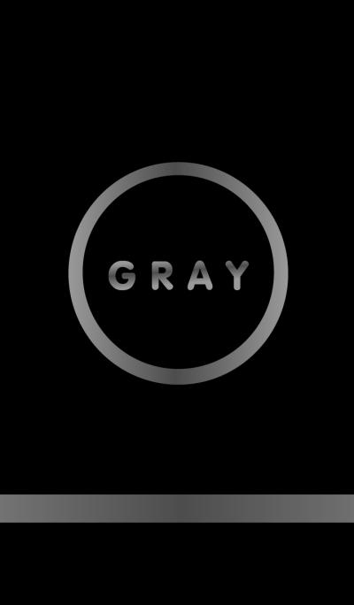 Simple Gray & Black (Circle)