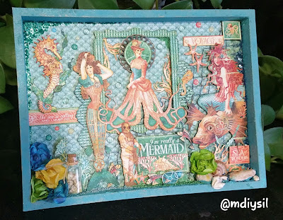 diorama collade de scrap coleccion voyage beneath the sea graphic 45