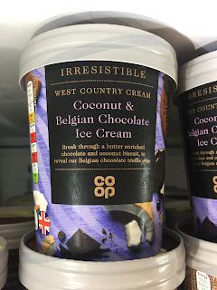 co op Coconut & Belgian Chocolate Ice Cream