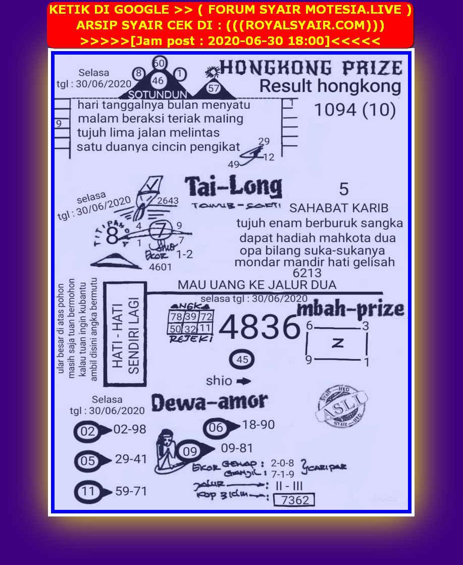 Kode syair Hongkong Selasa 30 Juni 2020 48