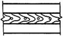 Группа пор в сварном шве, расположенных в линию