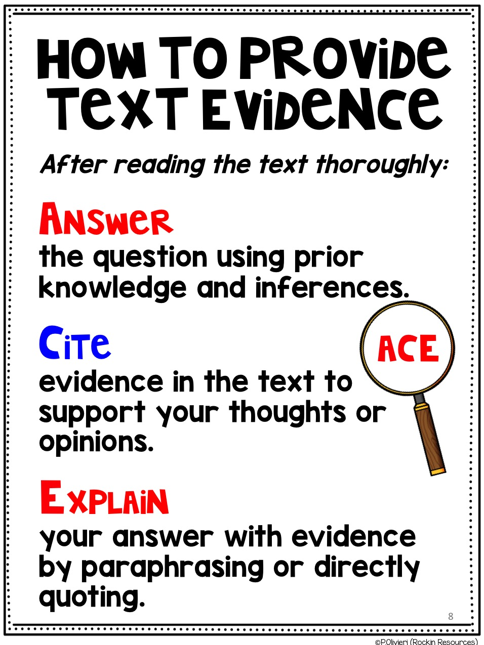 How to Teach Text Evidence