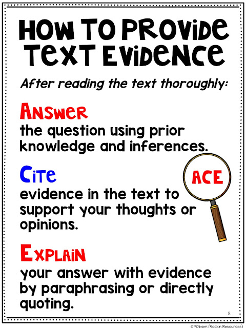 USE ACE FOR TEXT EVIDENCE