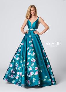 Vestidos de gala floreados