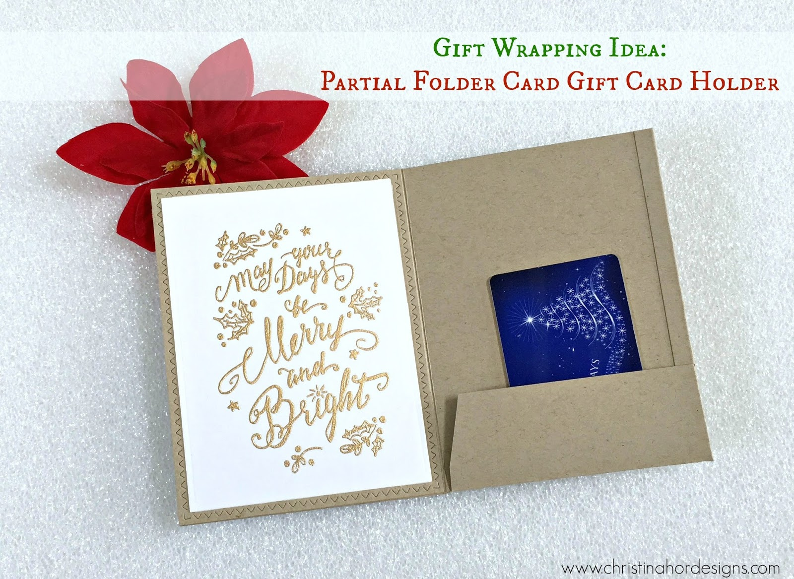 How to make a partial folder style card gift card holder gift card hold negle Gallery