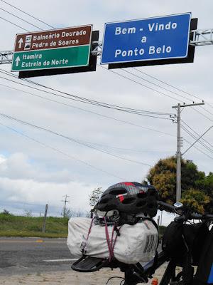 Cjhegando a Ponto Belo. Foto Gilson Soares, 2014.
