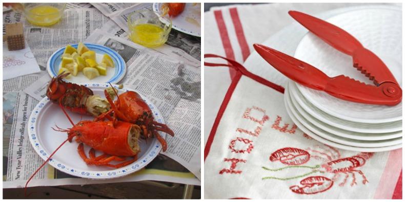 Coastal lobster steam party