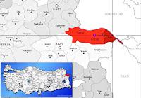 Aralık ilçesinin nerede olduğunu gösteren harita