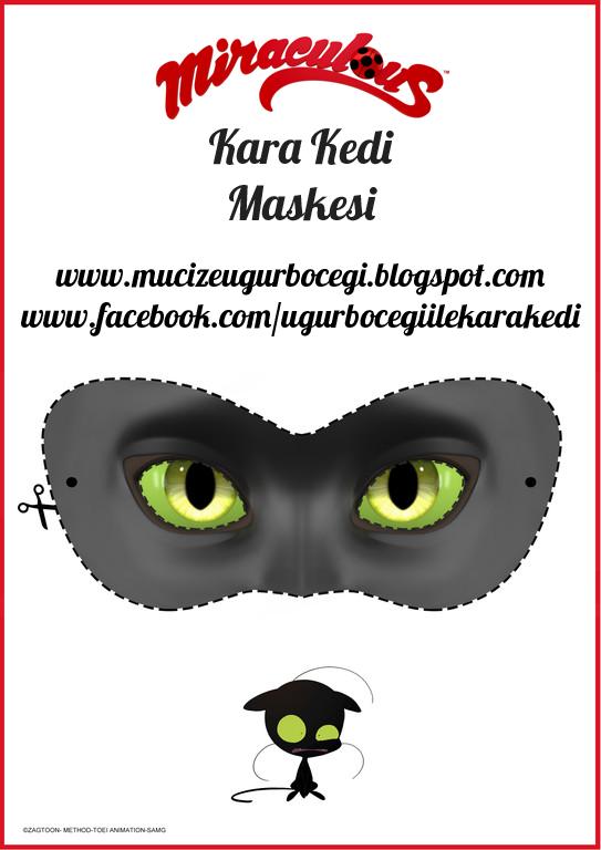 Kara Kedi Maskesi Mucize Uğur Böceği Ile Kara Kedi