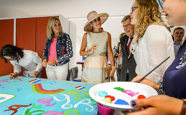 Queen Maxima attend the opening of the Papageno Huis in Laren