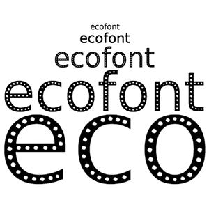 خط-Ecofont