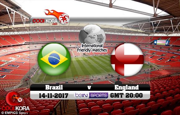 مشاهدة مباراة إنجلترا والبرازيل اليوم 14-11-2017 مباراة ودية
