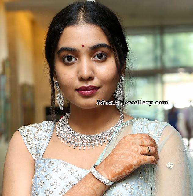 Shivathmika Rajashekar Diamond Choker