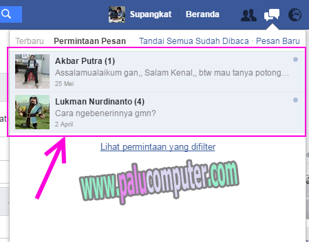 chatting di facebook