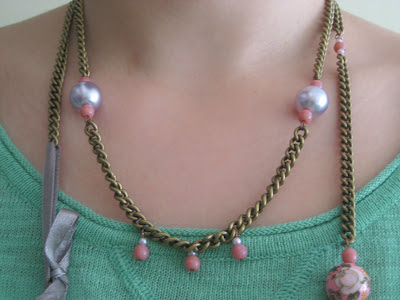Collar romántico DIY/ romantic neclace / collier romantique