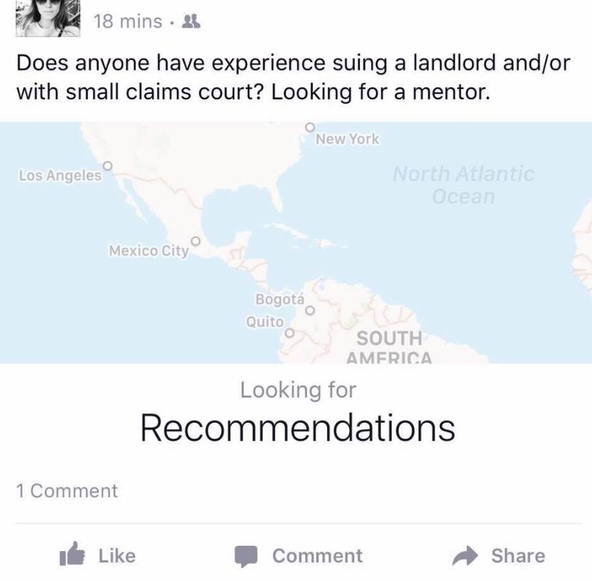 recomandari facebook