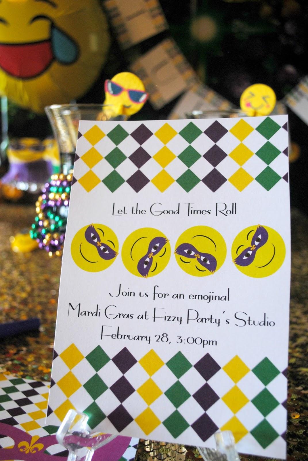 Fizzy Party: Mardi Gras Emoji Party