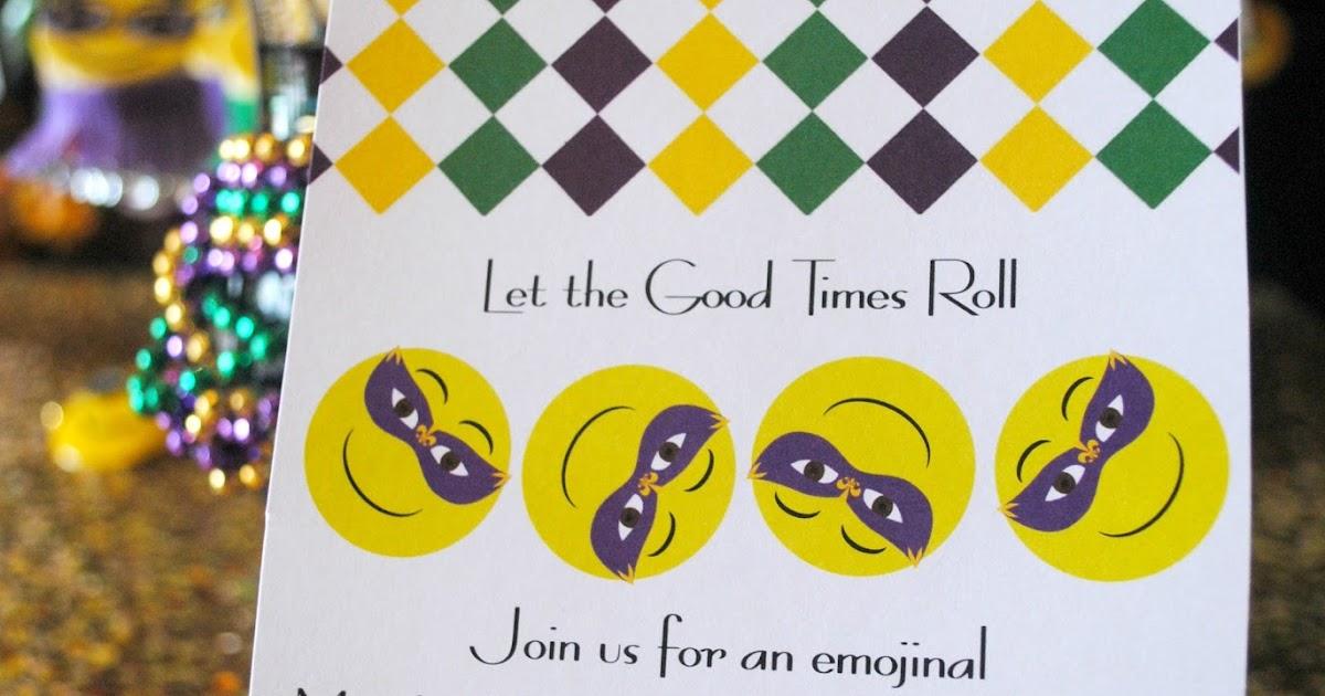 fizzy party  mardi gras emoji party