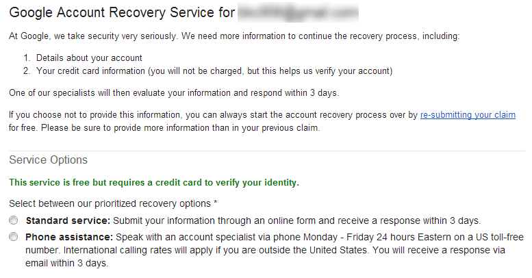 Google Account Recovery Has Paid Option That Streamlines Process