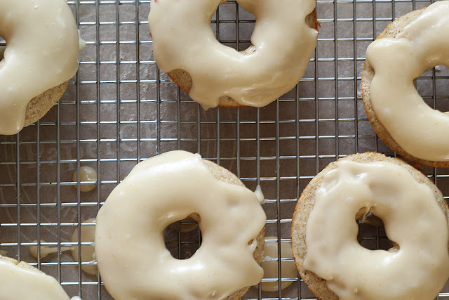 Baked Chai Donuts with a Brown Butter Glaze | sweetpeasandsaffron.com
