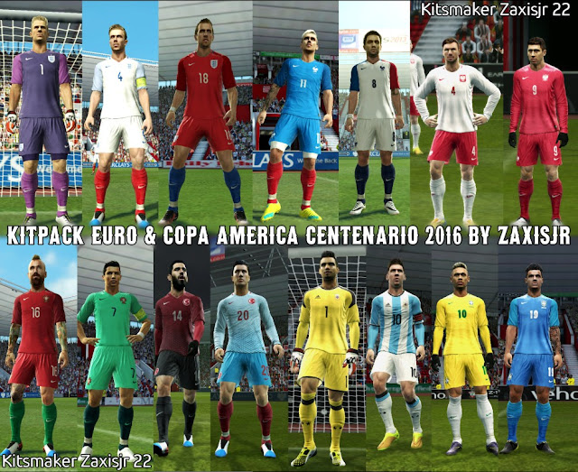 Download PES 2016 Kitpack Euro 2016 and Copa America 2016