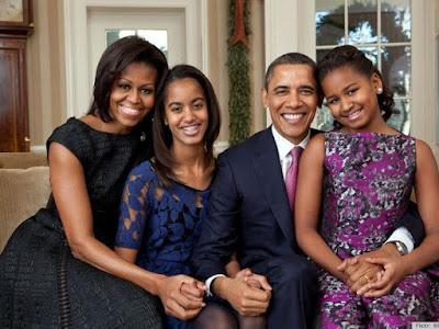 Foto de Barack Obama con sus amores
