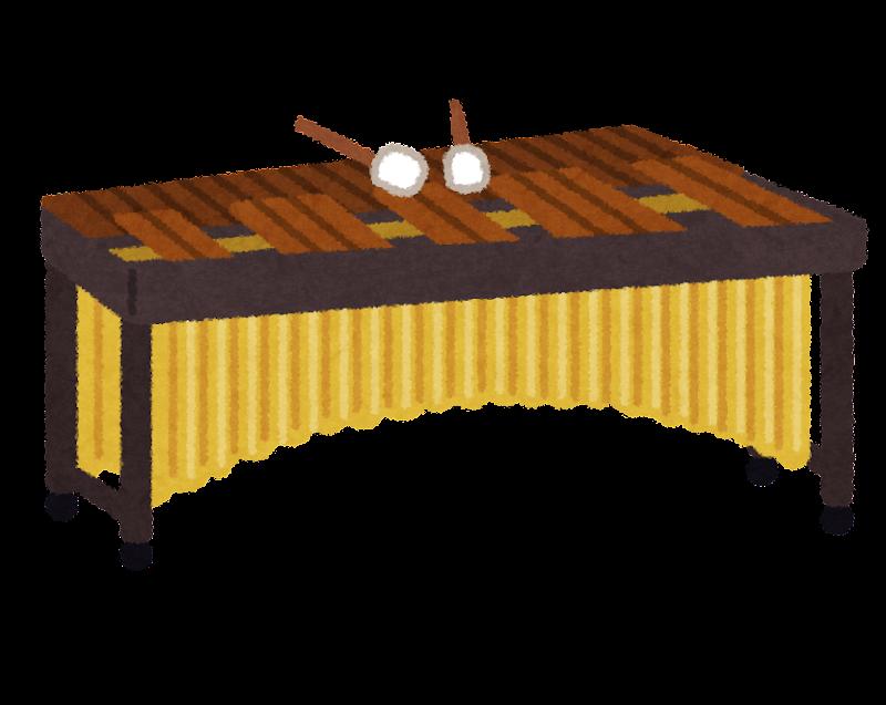 ひらがな お ひらがな : 木琴(マリンバ)の上にバチが ...