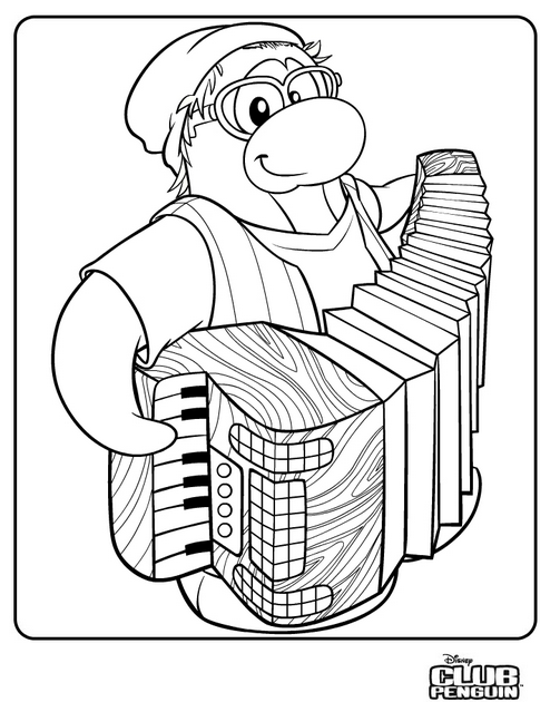 Not Using This Blog: New Club Penguin Coloring Page