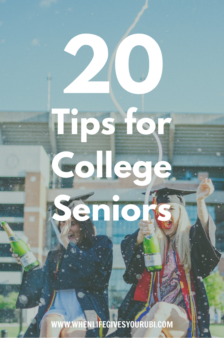 Are you starting or ending your senior year soon? I put together all the advice I wish I knew my senior year of college, from resume writing to keeping in touch with friends.