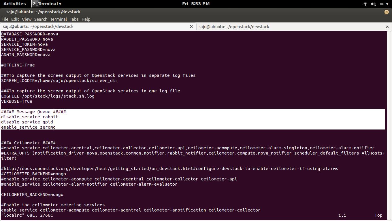 fosshelp: How to OpenStack DevStack Setup with ZeroMQ