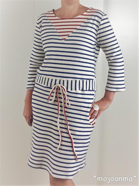 Streifen, Ringel, Blau, 1000 Stoff, Kreativlabor Berlin, Kleid, Sommerkleid