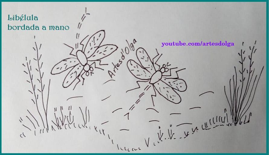 Artesd\'Olga: Libélula Bordada a Mano   Dragonfly Embroidery