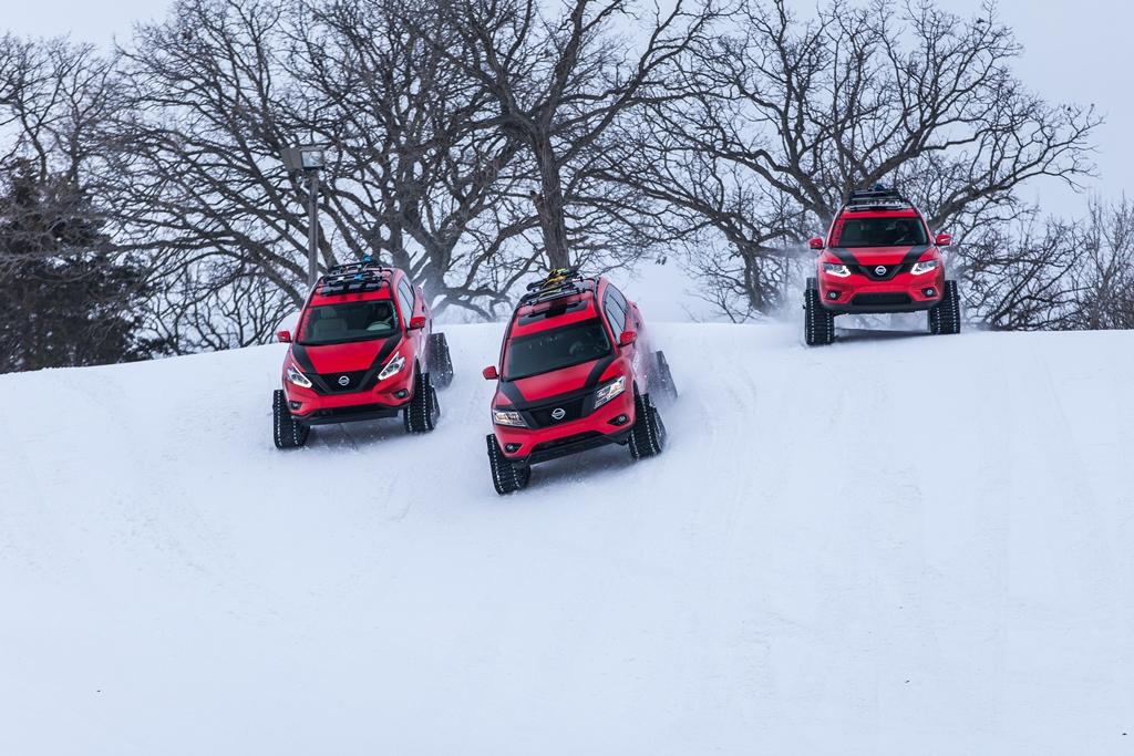 nissan winter warriors 04 rs H Nissan μας αποκαλύπτει τρεις πολεμικές μηχανές του χειμώνα Nissan, Nissan Murano, Nissan Pathfinder, Nissan Rogue, Nissan X-trail, SUV, videos