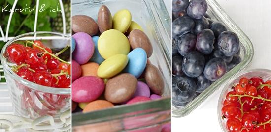 Obst Schokolade Buffet Gartenparty Sommer