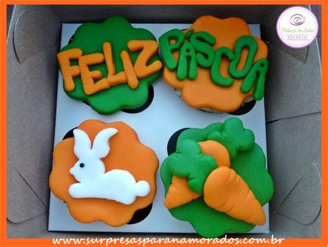 cupcakes coelhinho cenoura para a páscoa 2013