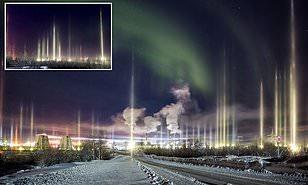FOTOS: captan raras auroras boreales en rusia.